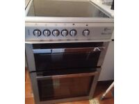 GREY FLAVAL CHROME DESIGN FREE STANDING 60cm ELECTRIC COOKER, 4 MONTHS WARRANTY