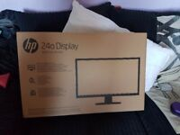 sold HP 24 inch pc monitor 1080p hdmi brand new sealed