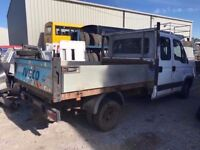 IVECO DAILY CREW CAB TIPPER 2008REG, SPARES OR REPAIRS FOR SALE
