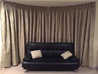 Extra large curtain golden/green hint