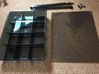 IKEA KOMPLEMENT PAX storage tray & glass shelf