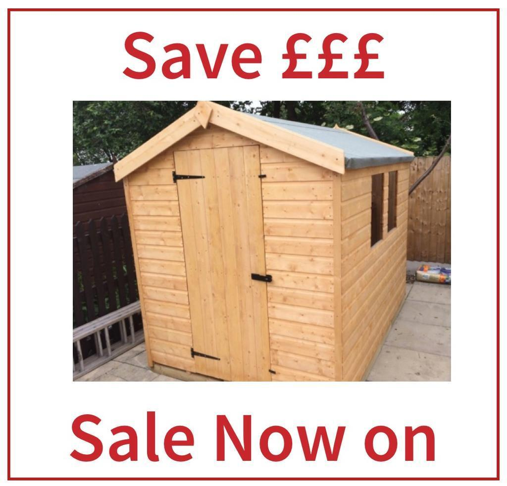4x4 apex garden shed all sizes available high quality low price free delivery