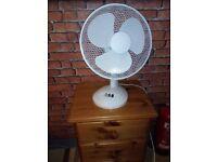 Desk Fan 12 Inch White