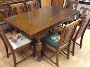Antique Dining Set with Buffet