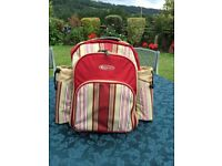 Picnic backpack with cooler department