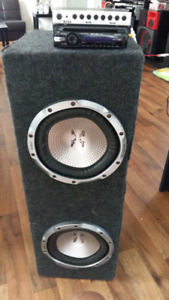 Car ampliers, sub woofers and preamp.
