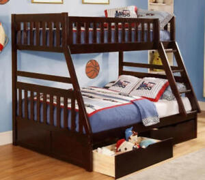 Wood bunk beds ( twin / double )