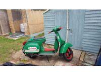 Lml star deluxe 125 2T manual green castrol 177 piaggio vespa