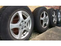 4 x VW Golf Alloy Wheel with tyres