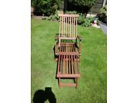 Hardwood steamer relaxer chair