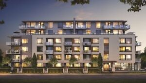 Livingstone House 1 Bed + Flex Spacious Condo Cambie Corridor