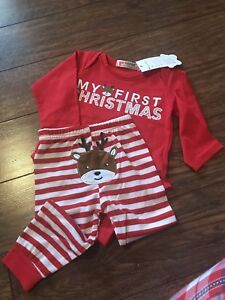New baby's first Christmas outfit, cute photo op