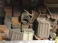 Various roof tiles clay and concrete mix and bridges for sale £40.