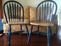 4 heavy dining chairs