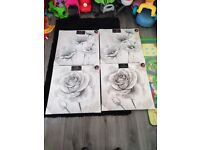 4x new flower canvas