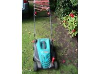 BOSCH ELECTRIC LAWN MOWER WITH LONG LEAD ONLY £20 for quick sale CAN BE SEEN WORKING