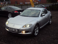 MAZDA RX-8 231 PS 4 DR COUPE 6 SPEED 2006 VERY LOW MILEAGE EXTRAS FULL SERVICE HISTORY LONGMOT 2KEYS
