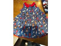 Next girls dress and cardigan red age 2-3years summer holiday