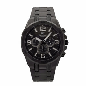Casio EFR538BK  Mens Analog Chronograph Watch - Black-new in box