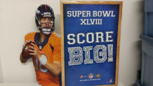 Peyton Manning superbowl football cut out