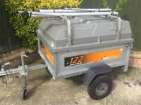 Erde tipping trailer + hardtop/spare wheel/roofbars/bike racks