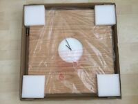 BNIB Marks & Spencer's large wooden clock 50cm x 50cm