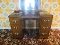 Two Solid Wood Wardrobes, Chest of Draws and Dressing Table with Mirror