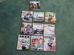 Lot of 10 IKEA Catalogs 2007 to 2017 Good Condition