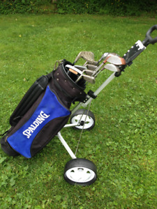 Golf clubs with bag and cart - Great condition