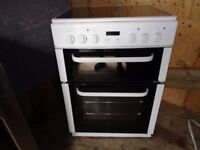 BUSH CERAMIC ELECTRIC COOKER 60 CM DOUBLE OVEN LIKE NEW