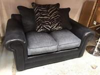 2 seater sofa with scatter cushions ( new )