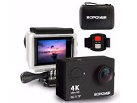 NEVER USED !!! 4K WiFi Action Camera + tons of accessories