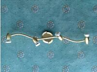 Ceiling Spotlight Fitting, Brass Finish Complete With Bulbs