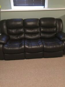 3 pc bonded leather reclining set