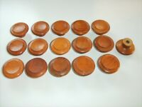 16 SOLID WOOD KNOBS/HANDLES (for upcycling project?)