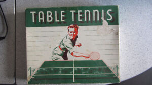 Vintage Table Tennis Game- Paddles and Net In Box- $15.00 OBO