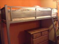 Used silver cabin bed