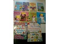 10 x children's hard back books