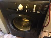 Black hotpoint washing machine