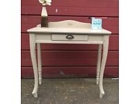Small dressing table (other uses too) Annie Sloan chalk paint distressed wax finish.