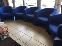 Office furniture - large desks - Reception counter - swivel chairs - cabinets - tub chairs