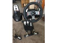 Logitech G27 racing wheel with Wheelstand Pro