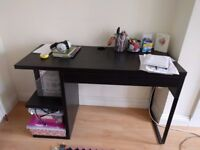 Ikea MICKE Black Desk with drawer