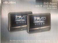 "BUSH 9"" Dual (twin) Screen In Car DVD Player BDVD 7298 M inc Headrest mount kit"