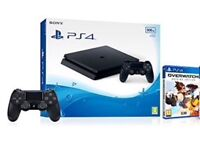 brand new PS4 console slim 500gb with overwatch