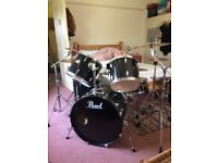 Pearl export drum kit, Sabian pro sonix and all hardware - ready to play