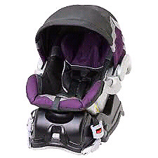 Purple baby trend car seat with base