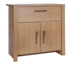 abailey 2 Door 1 Drawer Small Sideboard - Oak Effect