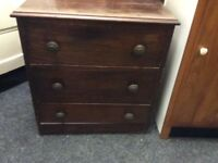 Small vintage mahogany chest of drawers