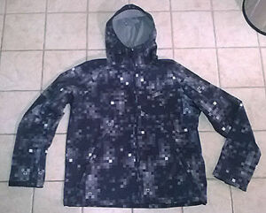 Men's FireFly Hooded Shell Jacket with Fleece Lining **Large**